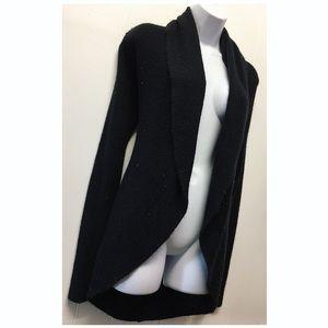 Express |  Black Knit Slouched Long Cardigan EUC